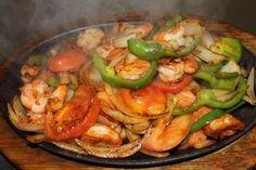 Fajitas de camarón  Shrimp Fajitas