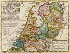 Hermann Moll Nederlanden 1732