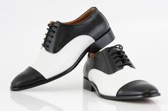 Black & White Leather Shoes