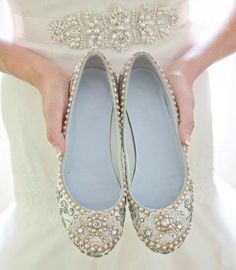 Pretty bridal shoes from Beholden Bridal | onefabday.com