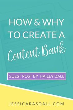 How and why you should create a content bank for your business