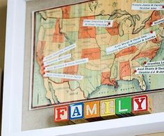 maps+for+decorating | shadowbox family map for kids room art | DIY for home decorating