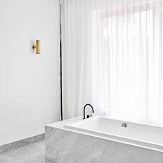 Marble bathtub. #interior #minimal #monochromatic // Instagram photo from mnml.space | @leftyio