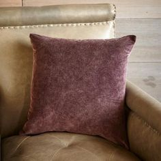 PURPLE SAGE PILLOW - A unique and lovely muted purple color is achieved when cotton velvet is enzyme washed for understated elegance. Purple Comforter, Purple Sage, Cotton Bedding, Southwestern Style, Cotton Velvet, Throw Pillows, Elegant, Inspiration, Color