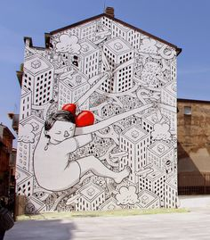 While you discovered the first piece a few days ago, Millo has now wrapped up the second part of his massive project in Milan, Italy. www.milanoarte.net