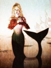 Victorian Art - Old Sailors Dream - The Mermaid by Bob Orsillo