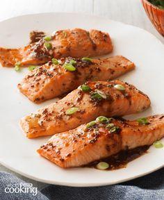 Maple-Balsamic Salmon Fillets #recipe