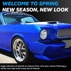 Check out our wheel selection to help you decide what wheels are best for your Mustang. Spring is here and the sun is out. Perfect weather for a nice long ride. visit our wheels section online http://www.mustangsplus.com/xcart/Mustang-Wheels-c-2169/ or call us at 888.999.4289 and let our customer service team help you choose the right set of wheels for your Mustang. #mustangsplus #wheels #springishere #spring #newlook #restomodstang