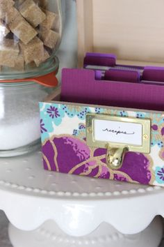Mother's Day DIY Tutorial: Decoupage Recipe Box via Oh So Beautiful Paper: http://ohsobeautifulpaper.com/2014/05/diy-tutorial-mothers-day-recipe-box/ | Tutorial + Photo: Mandy Pellegrin for Oh So Beautiful Paper #DIY #MothersDay