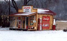 gas station garages | Back yard Gas Stations - Primarily Petroliana Shop Talk