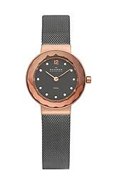 skagen Watch 456SRM Womens, Refined rose gold tone sword hands, Applied polished rose gold tone Arabic 12