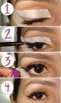 How To Make A Perfect Liner Tutorial Winged Eyeliner With Tape Stencil