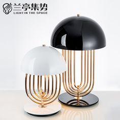 Современные Прекрасный Токарем Настольная Лампа Творческий Плавно Вращая Лампы…