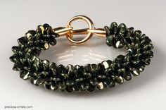 My work with the new Preciosa Pip™ beads. Kumihimo bracelet http://kerrieslade.blogspot.co.uk/2014/07/the-pip-collection.html