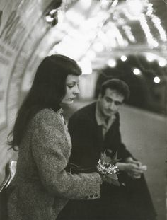 "Robert Doisneau  ""Le Muguet du Métro"" (Marc and Christiane Chevalier in the Paris Metro)"
