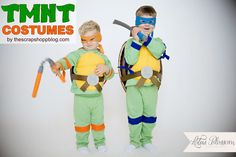 Teenage Mutant Ninja Turtle Costumes (TMNT) - simple and inexpensive Halloween costume #halloween #costume #tmnt
