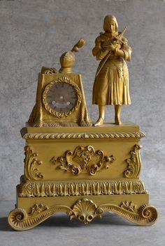 Pendule jeanne d'arc en bronze doré au mercure   http://www.bellino.fr/blog/?p=955
