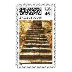 Rustic Autumn Wedding Fall Wedding Invitations Postage Stamp