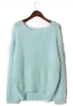 mint sweater.