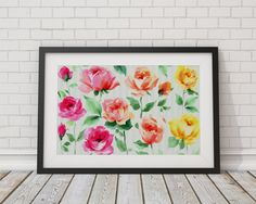 Check out this item in my Etsy shop https://www.etsy.com/listing/483541303/watercolor-flowers-painting-art-poster