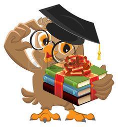 Owl teacher holding gift book Book is best gift vector image on VectorStock Teacher Cartoon, Owl Cartoon, Owl Clip Art, Gift Vector, Islamic Cartoon, Alcohol Ink Crafts, Owl Bird, Book Gifts, Preschool Activities