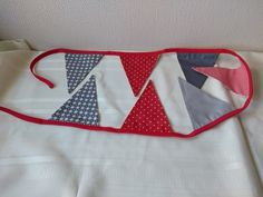 Scandi Print Bunting in Red and Grey £10.00