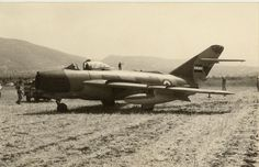 One of two MiG-17s of the Syrian Air Force that landed by error at Betzet airstrip, Israel on August 12, 1968.