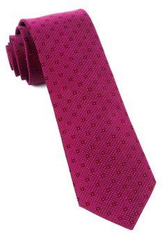 Geo Code Ties - Raspberry | Ties, Bow Ties, and Pocket Squares | The Tie Bar