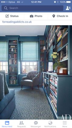 I love this look, utilising dead space for more books.
