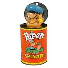 Fantastic Popeye Pop-Up can Popeye Olive Oyl, 1980 Toys, Popeye The Sailor Man, Geek Gadgets, Metal Toys, Vintage Tins, Vinyl Toys, Fun Comics, Antique Toys