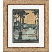 Found it at Wayfair - Nouveau Trees II by Goldberger Framed Painting Print
