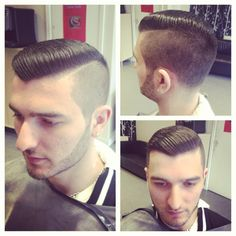 Well done. Great looking cut with shaved part. Nicely groomed.
