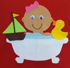 Flannel Friday: Baby in the Tub – Storytime in the Stacks Flannel Board Stories, Felt Board Stories, Felt Stories, Flannel Boards, Toddler Fun, Toddler Crafts, Preschool Crafts, Preschool Songs, Preschool Ideas