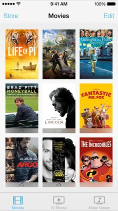 iOS 7 Videos, Game Center Ios 7 Design, Apple Launch, Tv Show Music, Brad Pitt, Movies And Tv Shows, Movie Tv, Music Videos, The Incredibles, Game