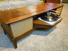 Console Cabinet, Stereo Cabinet, Record Player Console, Record Players,  Cabinet Ideas, Basement Ideas, Vinyl Records, Wood Furniture, Mid Century  Furniture