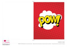 Superhero Party Free Printable   Birthday Cards | CatchMyParty.com