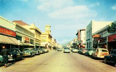 San Luis Obispo, CA, 1950s    Disneyland Main Street (except for perhaps the Apple store and Victoria's Secret) could use downtown SLO as their inspiration.