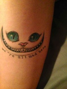 The Cheshire cat - Disney Tattoo