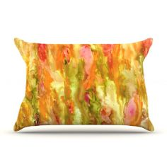 """Rosie Brown """"Walk in the Forest"""" Pillow Case   KESS InHouse#pillowcase #bedding #bed #art #abstract #kessinhouse"""