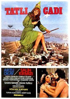 """ Tatlı Cadı "" (1975) Yönetmen:Volkan Kayhan Cinema Film, Film Movie, Film Archive, Pulp Art, Film Posters, Hollywood, Album, Image, Nostalgia"