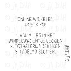 Online winkelen. Door © Ja Duh #Humor #webshop #geld #shoppen #vrouw