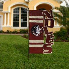 Florida State Seminoles (FSU) Garnet-Gold Cut-Out Applique Garden Flag