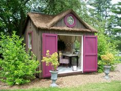 The She Shed at the Berkshire Botanical Garden is one of 9 inventive backyard retreats featured in this gallery from about.com.