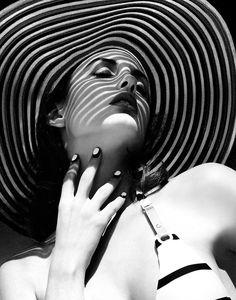 black & white glamour / summer hat