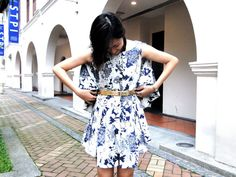 People who W.E.D. ('Wear Emerging Designers')    #11. Dawn     What are you wearing: Reckless Ericka cape dress!     http://www.facebook.com/BlueprintSingapore/app_134506053246185