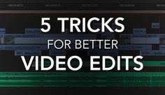 Readers have enjoyed my past blogs on editing from home, making a better demo reel, and other video-editing articles, so now I'm sharing with you my favorite editing tricks that I find make for better cuts and ultimately make videos easier to watch.