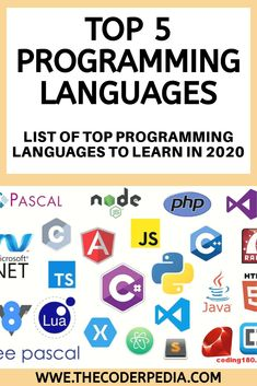 Programming is one of the most lucrative career option. Today we will take a deep look at the list of top Programming Languages to learn List Of Programming Languages, Basic Computer Programming, Java Programming Language, Object Oriented Programming, Learn Programming, Python Programming, Learn C, Learn To Code, Memory Management