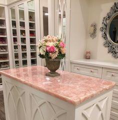 Rose Quartz Countertop So Pretty A Perfect Touch Of Color For A