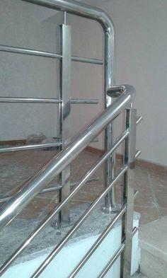 Glass Stairs, Stair Railing, Stainless Steel, The One, Steel Doors, Verandas, Banisters, Atelier, Stair Banister