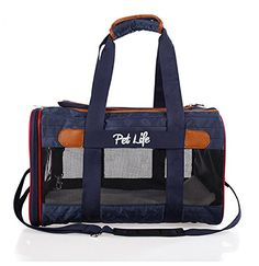 Airline Approved Aero-Zoom Lightweight Wire Framed Collapsible Pet Carrier, Dark Blue, One Size -- See this awesome image  : Christmas Presents for Cats